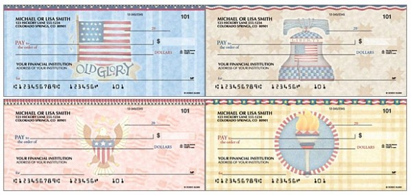 America the Beautiful Patriotic Checks