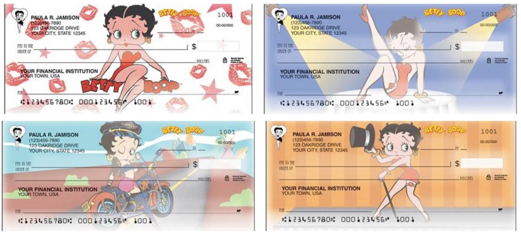 Betty Boop Personal Checks, Betty Boop checks