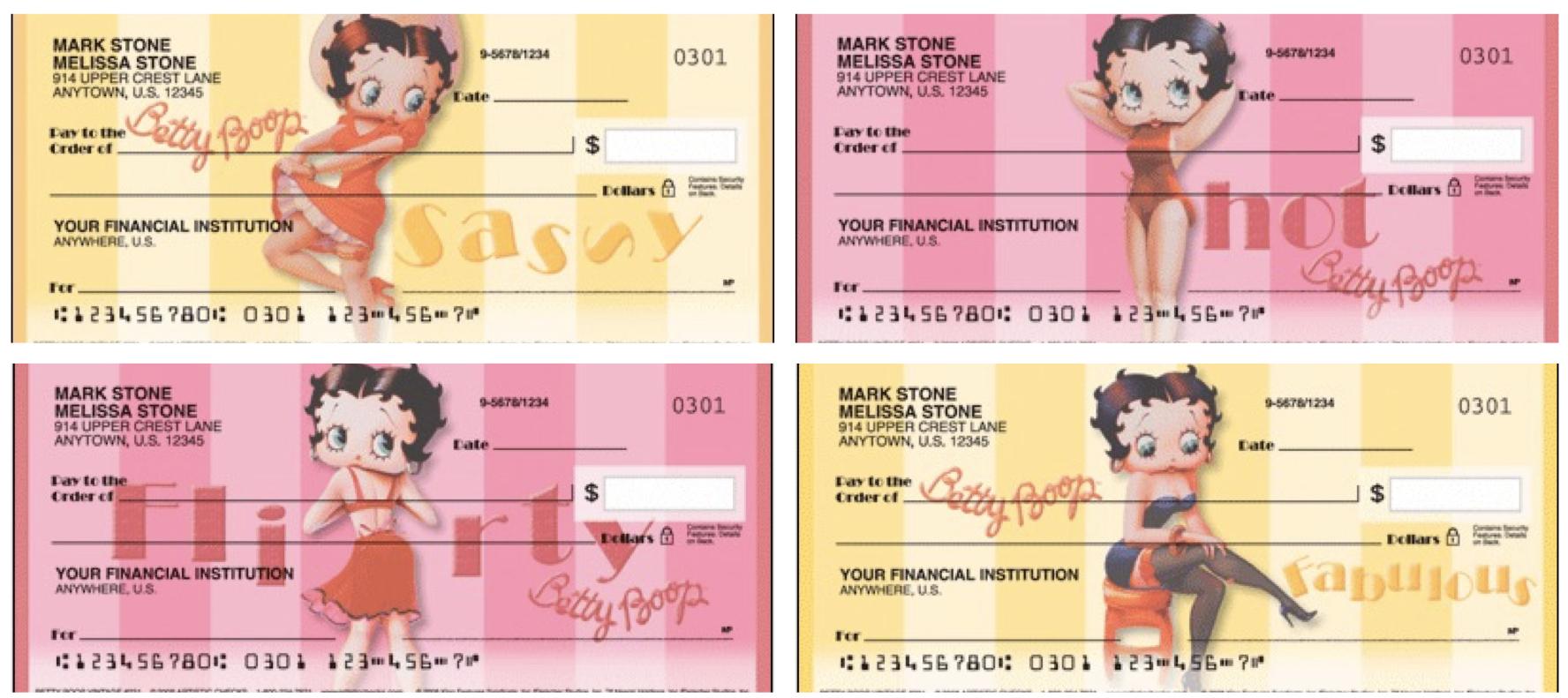 Betty Boop Vintage Checks, Betty Boop checks