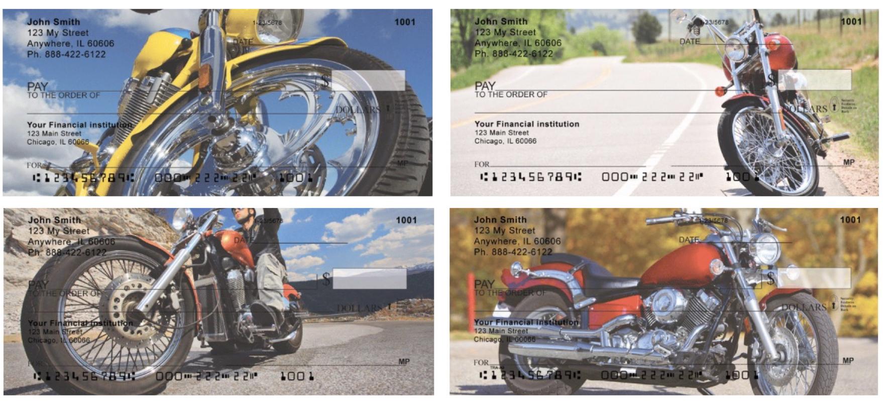 Cruising Motorcycles Personal Checks, Motorcycle Checks