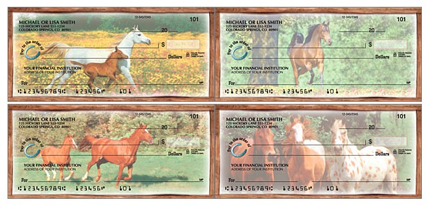 Horses Play Personal Checks, horse lover checks