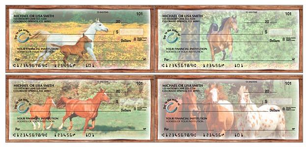 Horses Play Personal Checks, horse lover checks