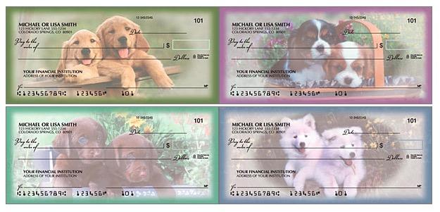 Playful Pups Checks, Dog Lover Checks