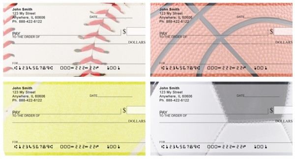 Sports Fan Textures Personal Checks