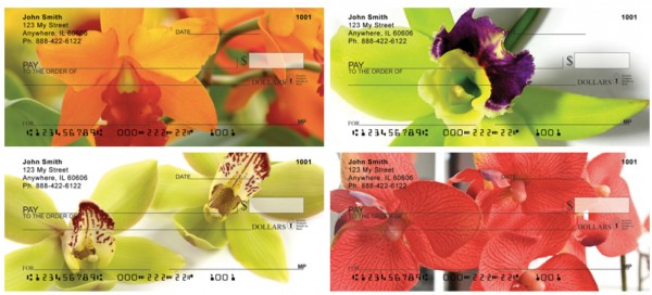 Tropical Orchids Personal Checks