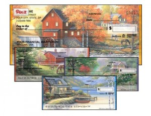 America Home Theme Personal Checks