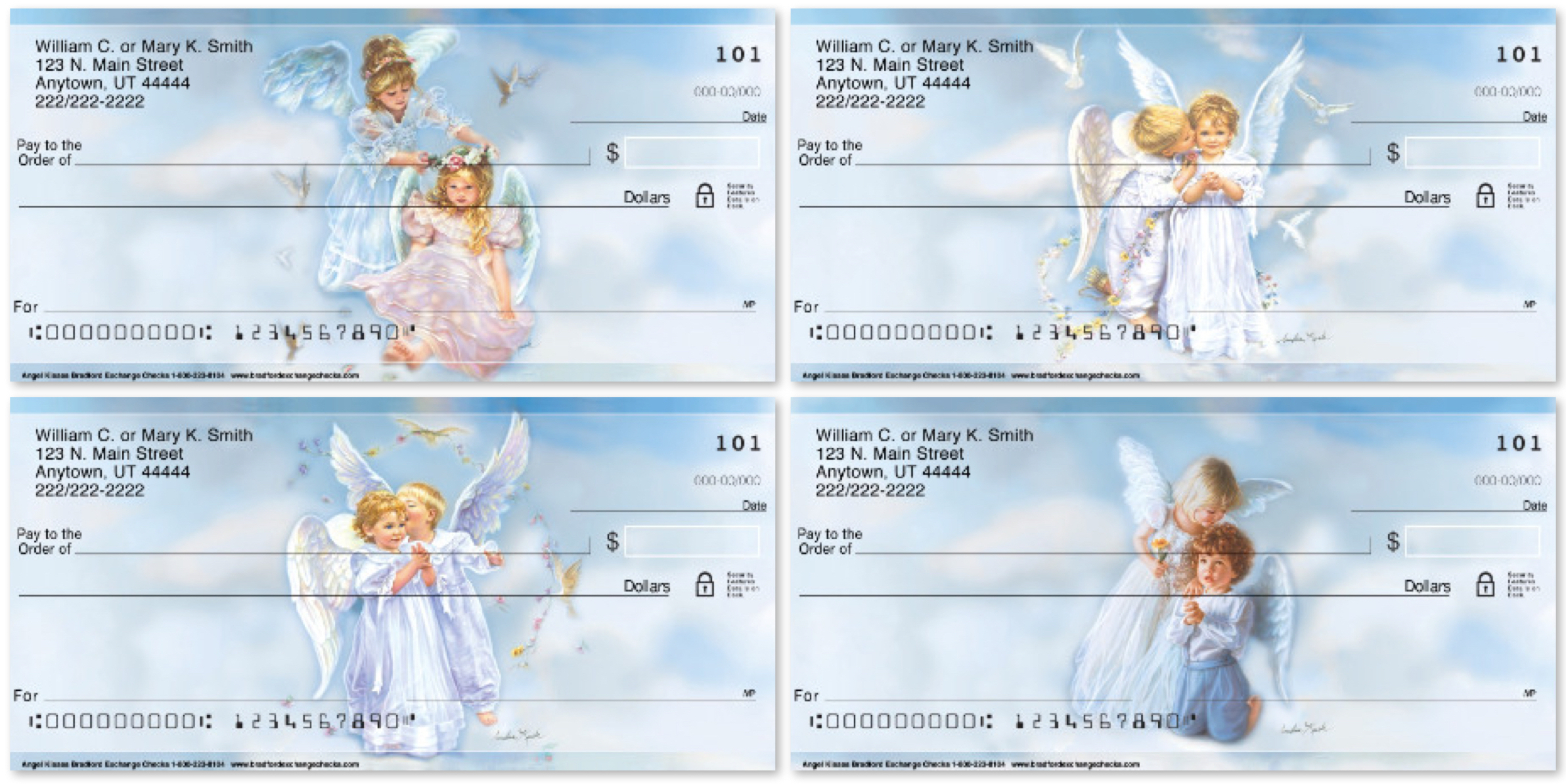 Angel Kisses Personal Checks