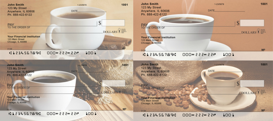 Bold Coffee Checks, coffee checks