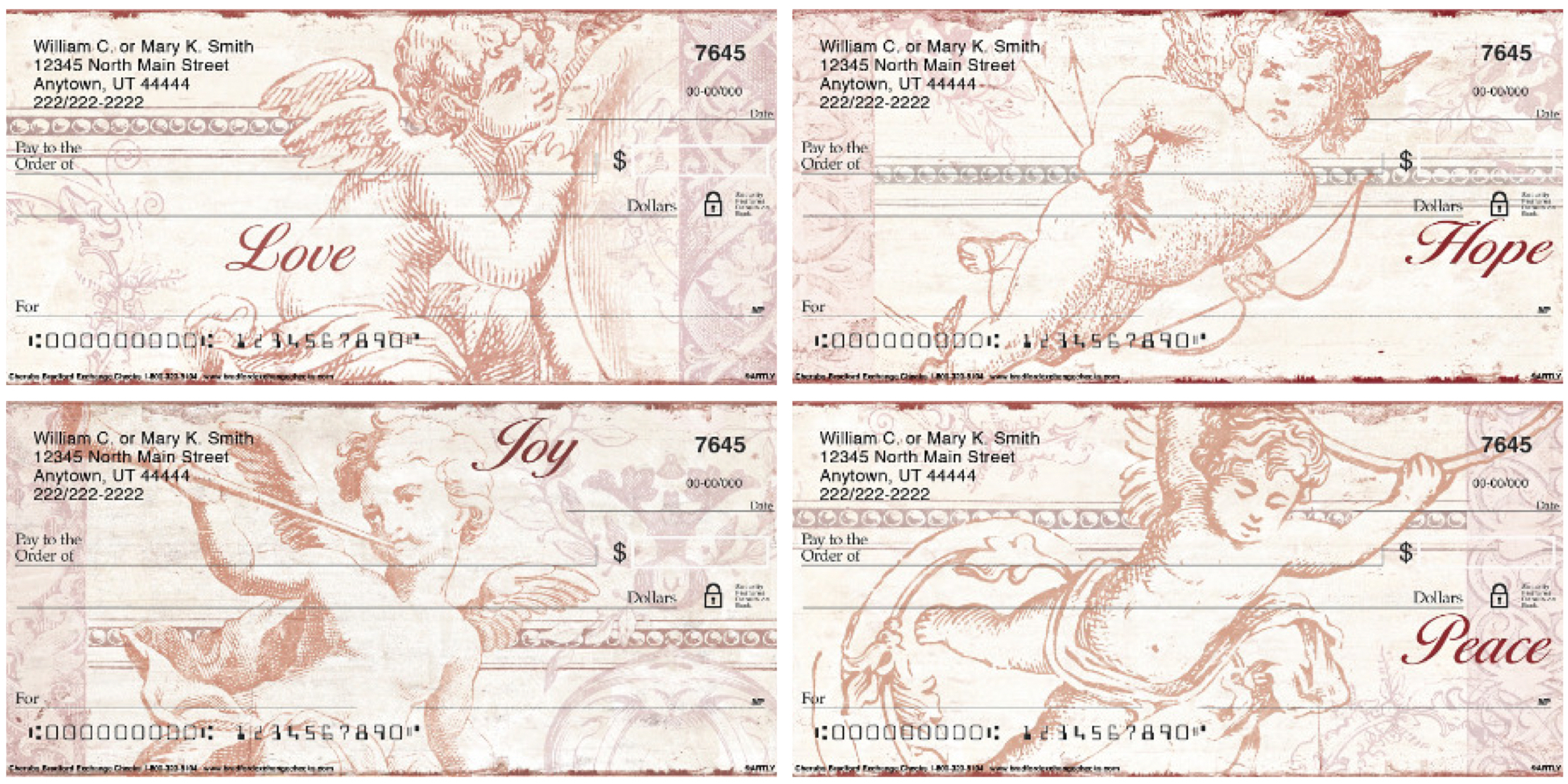 Cherubs Personal Checks