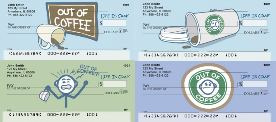 Out Of Coffee Checks, coffee checks
