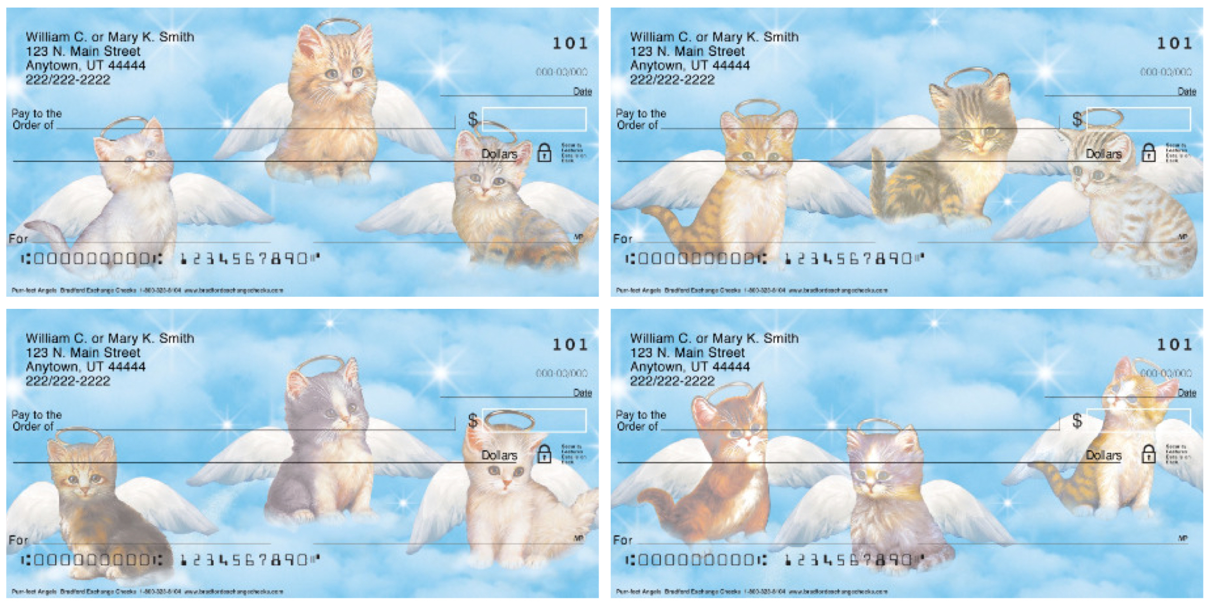 Purr-fect Cat Angels Personal Checks