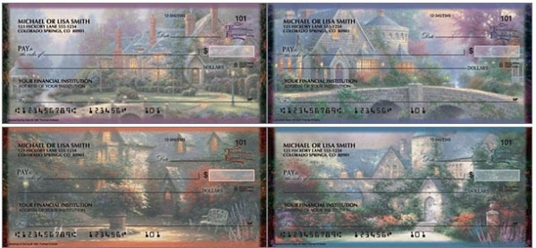Thomas Kinkade's Quiet Escapes Personal Checks, Thomas Kinkade Checks