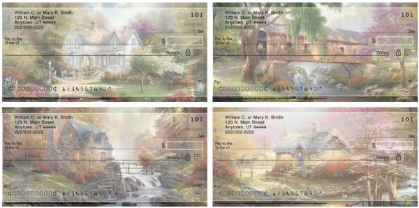 Thomas Kinkades Country Escapes Personal Checks, Thomas Kinkade Checks