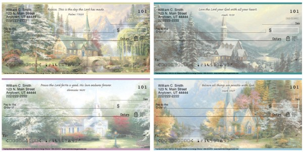 Thomas Kinkades Faith for All Seasons Personal Checks, Thomas Kinkade Checks