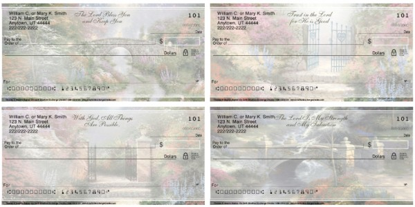 Thomas Kinkade's Heaven on Earth Personal Checks, Thomas Kinkade Checks