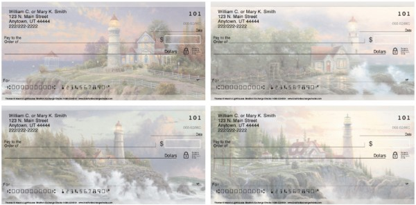 Thomas Kinkade's Lighthouses Personal Checks, Thomas Kinkade Checks
