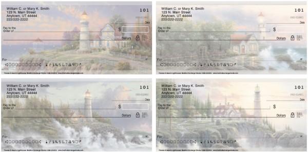Thomas Kinkade's Lighthouses Personal Checks, Thomas Kinkade Checks