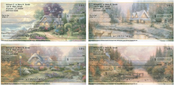 Thomas Kinkade's Seasons of Reflection Personal Checks, Thomas Kinkade Checks