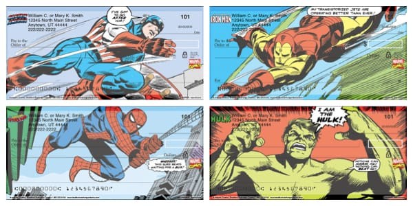 Avengers Comics Personal Checks