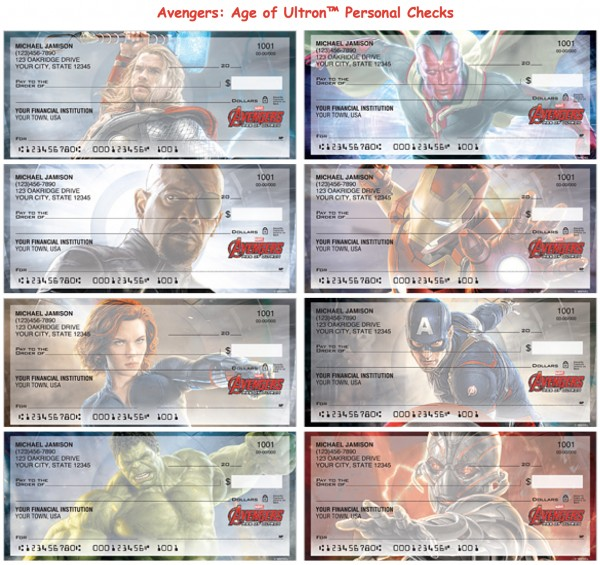Avengers Age of Ultron Checks, Superhero Checks