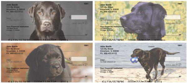 Black Labradors Personal Checks