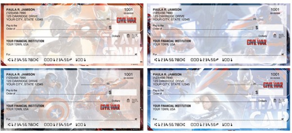 Captain America- Civil War Checks, superhero checks