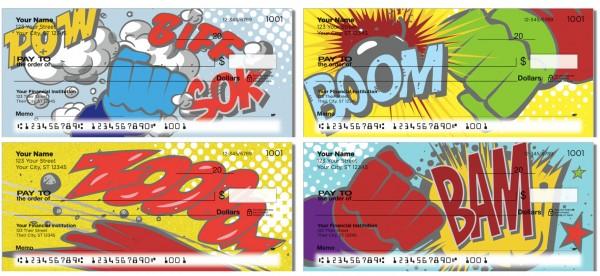 Comic Book Checks, superhero checks