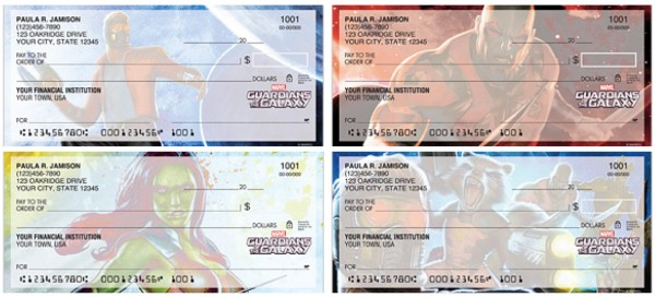 Guardians of the Galaxy Checks, superhero checks