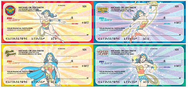 Wonder Woman Checks, Superhero Checks