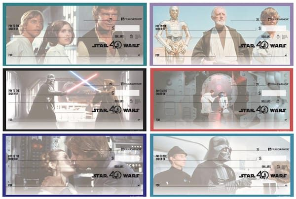 Star Wars 40th Anniversary Checks