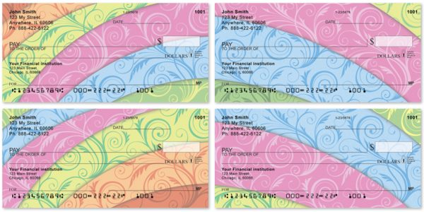 Floral Rainbow Checks