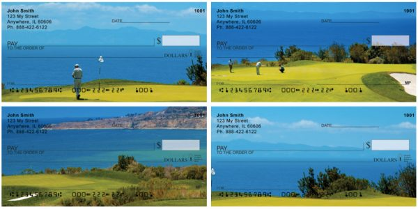 Golfers View Of Catalina Island Personal Checks