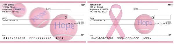 Hope Win Pink Tennis Ball Checks