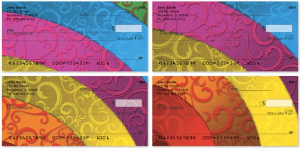 Rainbow Filigree Personal Checks