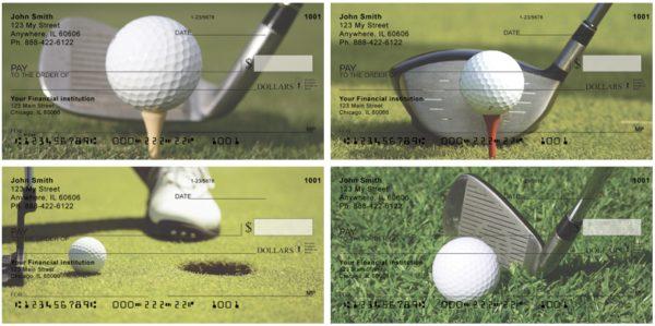 Tee'd and Green Golf Checks
