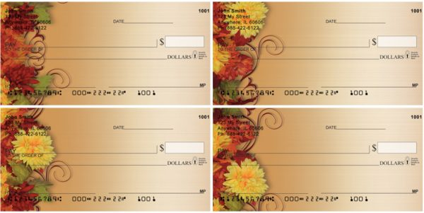 Fall Mums In Bloom Personal Checks