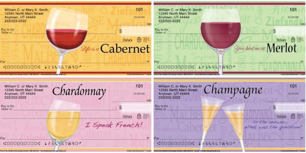 It's Wine Time Personal Checks
