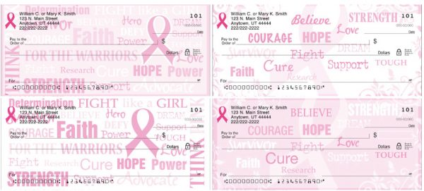 Pink Ribbon Hope for a Cure Personal Checks