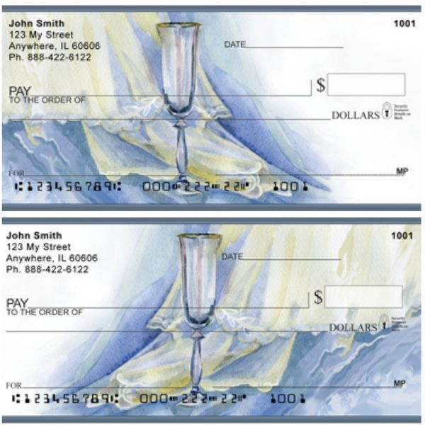 Romance With Wine And Lace Personal Checks