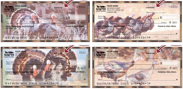 Thanksgiving Wild Turkey Holiday Gift Checks