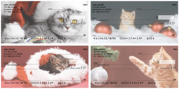 Christmas Cats Personal Checks
