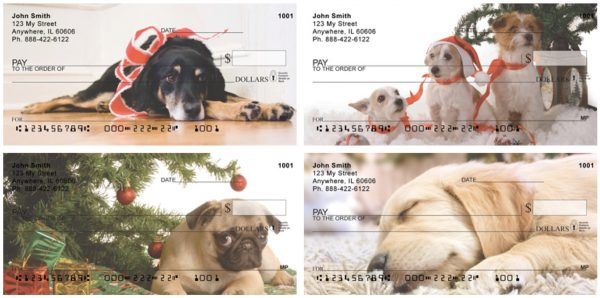 Christmas Dogs Personal Checks