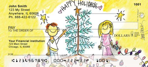 Happy Holidays Tree by Amy S. Petrik