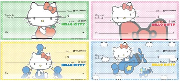 Hello Kitty Polka Dot Background Checks