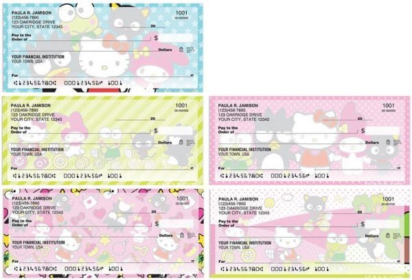 Personal Checks Featuring Hello Kitty and Friends