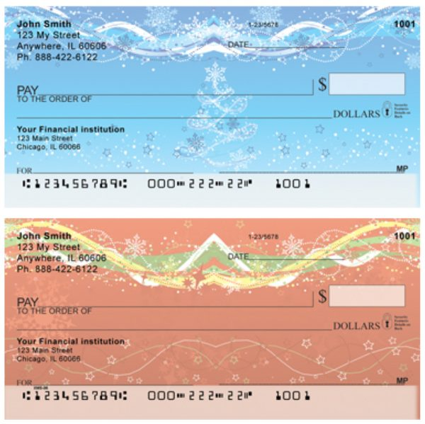 Holiday Sparkle Personal Checks