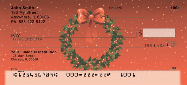 Holiday Wreath Personal Checks