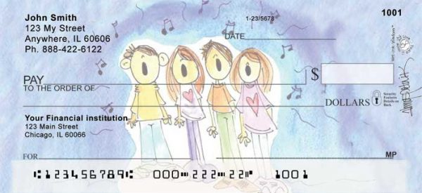 Joyful Jingles Personal Checks by Amy S. Petrik