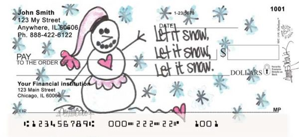 Let It Snow, Let It Snow, Let It Snow! Personal Checks by Amy S Petrik