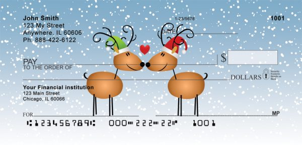 Reindeer Love Personal Checks